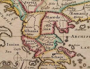 1690 John Verkäufer Landkarte Die South Teil Von Türkei IN Europa - ॐ Farbe