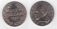 LIBERIA – RARE 1$ UNC COIN 1968 YEAR KM#18a.2