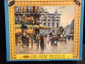 713 piece Crown by Whitman vintage Jigsaw Puzzle- complete!! Cafe De La Paix