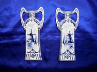 Jugendstil Porzellan Vasen seltenes Paar um 1900 !! sehr schön und 23 cm hoch !!