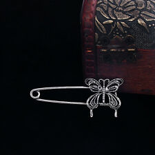 Vintage Silver 10Pcs Butterfly Safty Pins Clasp 48*21mm Wholesale