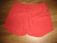 LADIES CUTE RED COTTON CASUAL SUMMER SHORTS BY NOW - SIZE 16 - CHEAP BARGAIN