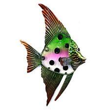 Wall art-métal mur de verre art-vert noir angel fish