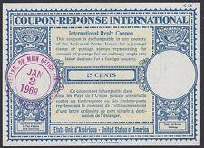 U.S., 1968.  Int'l Reply Coupon 15c (4), Various