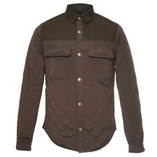 NEW $195 SCOTCH & SODA ARMY GREEN WOOL/NYLON QUILTED SHIRT JACKET SIZE M