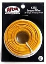 Atlas #318  -   50' - Yellow Color Coded  20 Gauge Copper Stranded Layout Wire