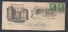 1916 MURPHY HOTEL,RICHMOND VA, CUT OFF & OPENED ON BOTTOM