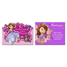 Sofia the First Birthday Party Invitations & Thank You Postcards Combo (8 Each)