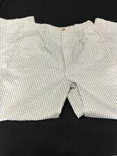 Kellys Kids Boys Girls Pants Size 12 Seersucker Tan White Striped Lightweight