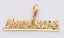 Arizona Cardinals Team Name Necklace Pendant Charm  24k Gold Plated Cardinals