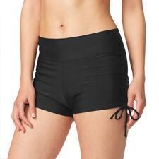 Women's Swim Shorts Summer Plain Trunks Bottoms Board Bikini Beach Swimwear