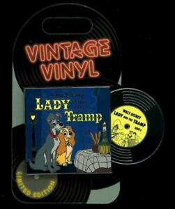 Lady and the Tramp Vintage Vinyl Pin of the Month Moving LE Disney Pin 134171