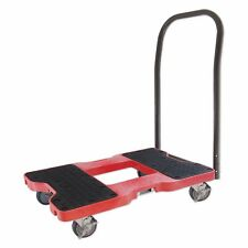 Snap-Loc Push Cart Dolly (Red) 1500 lb. Capacity w/Optional E-Strap Attachment