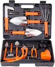 New ListingBnchi Gardening Tools Set 14 Pcs Stainless Steel Garden Hand Tool Orange Color