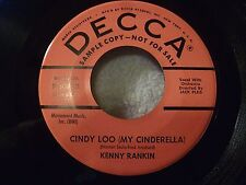 KENNY RANKIN Cindy Loo (My Cinderella)/Catch Love PROMO Teen Doo Wop 9-30852