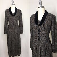 Vintage 80s Karin Stevens Rayon Dress Size Medium