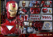 MARVEL Iron Man Mark VI 6 Sixth Scale Action Figure Hot Toys MOULÉ SOUS PRESSION
