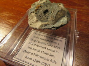 Clump of Shipwreck Chinese coins, Song Dynasty 960-1279 A.D.
