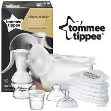 Tommee Tippee Closer naturaleza libre de BPA Manual Sacaleches con almacenamiento de leche