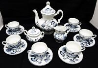 Vintage Arnart Complete Blue Onion Tea Set
