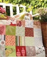 4 pieces of pre cut patchwork sewing quilting fabric squares 100% cotton
