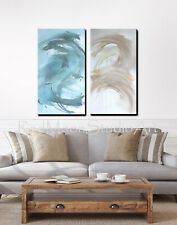 48x48 Painting on Stretched Canvas, Ready to Hang Abstract Art - US Artist
