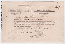 Costa Rica Contribucion Territorial Document Very OLD 1858 JBP