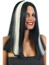 Parrucca Donna Halloween Vampira Striata *09089 Accessorio Carnevale feste a tem