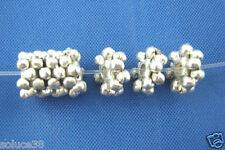 Perle spacer metal intercalaire argent vieilli 8mm - PL04