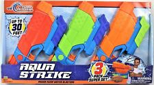 Tidal Storm Aqua Strike Power Pump Water Blasters 3 Pack Super Set Ages 6+