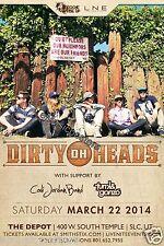DIRTY HEADS / CODI JORDAN BAND 2014 SALT LAKE CONCERT TOUR POSTER - Reggae Music
