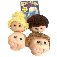 Lot 4 Cabbage Patch Doll Heads Only/One Doll Baby PreSewn Doll Body(New) Vintage