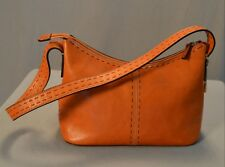 Fossil Leather Baguette Shoulder Bag Purse Handbag