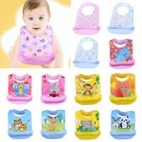 Baby Detachable Kids Boys Girls Waterproof Feeding Apron Saliva Towel Bib Smock