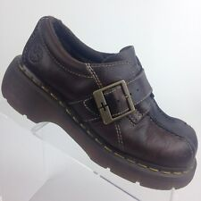 2397e8a3881 DR MARTENS Womens UK 4   US 6 AW004 Brown Monk Strap Shoes Doc Martens