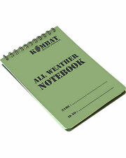 All Weather Waterproof Notepad Notebook Army Cadets Camping, A6 Size, 50 Pages