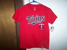 Minnesota Twins #7 Joe Mauer Red Player Youth T-shirt - MEDIUM  10 -12  MLB