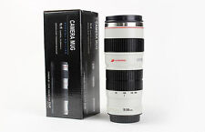 Canon Camera Lens Shaped EF 70-200mm Drink Thermos Coffee Cup Mug -White