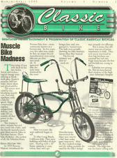 CLASSIC BIKE NEWS Sting Ray antique bicycle newsletter Volume 1 Number 2