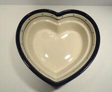 Boleslawiec Polish Pottery Heart Shaped Bowl