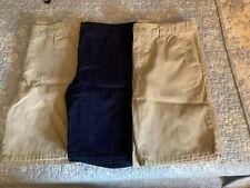 3 Pair 12P Cherokee Shorts Girls 12 Plus School Uniform Lot Of 3 Tan And Navy