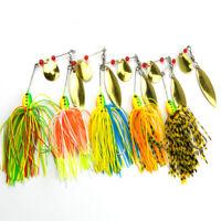 5 Fischen Spinner Köder Set Spinnerbaits Hecht Bass Fishing Haken Praktisch GE