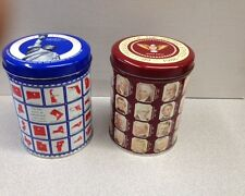 2 Vintage Limited Edition Valleybrook Farms Tins State Capitals & the Presidents
