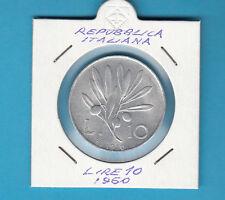 ITALIA LIRE 10 VECCHIO TIPO OLIVO ANNO 1950 OTTIMA CONSERVAZIONE  PREZZO REGALO