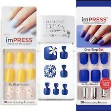 Mix And Match! Set Of 3: Impress Nails & Dashing Diva Magic Press Toe Nails
