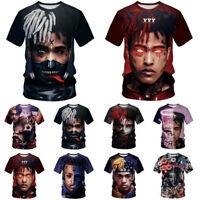 XXXTentacion Rapper Women Men Summer Casual T-shirt Short Sleeve Graphic Tee Top