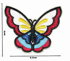 Butterfly Iron Sew Embroidered Patch Badge Patches Logo Fancy Badges #304
