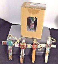 Teacher Cross Ornaments For Teachers - Teacher Appreciation Gift Set of 4
