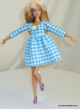 Gingham Blue Handmade dress clothes 4 Barbie Doll Model Muse Fashionistas 15