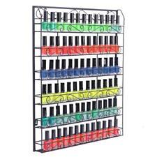6 Layer Wall Mount Nail Polish Display Rack Holder Cosmetic Display Shelf Metal